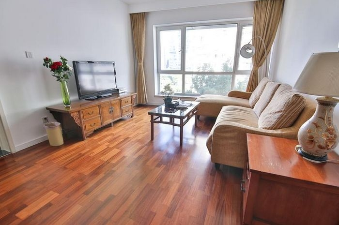 Rent a high floor apartment Central Park in Beijing
